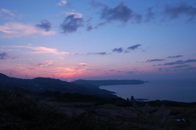 棚田と夕焼け6