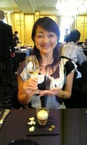 ロブションにて大山さんと乾杯