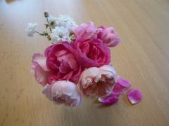 10月 安曇野の薔薇ブーケ