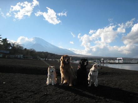 富士山うっすら・・・