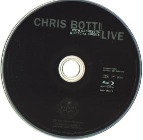 Blu-ray CHRIS BOTTI LIVE with Orchestra&Special Guests Disc