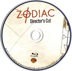 Blu-ray Zodiac Director's Cut Disc