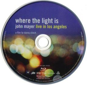 Blu-ray John Mayer where the light is Disc