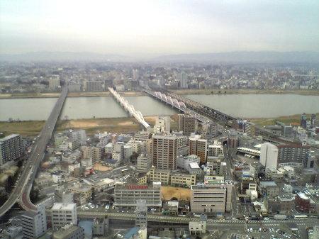 空中庭園展望台からの大阪の街