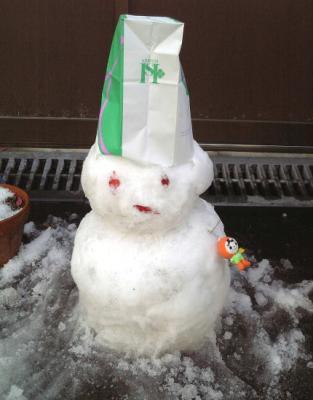 甥っ子姪っ子が作った雪だるま
