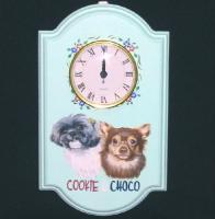 チョコちゃんとクッキーちゃんの時計