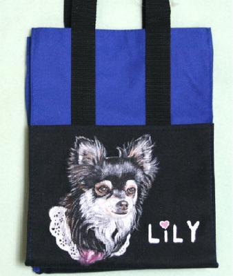 チワワのリリーちゃんのお散歩バッグ