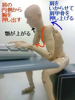 肩の凝りやすいパソコンの使い方
