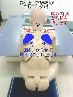 肩の凝りやすいパソコンの使い方(後姿)