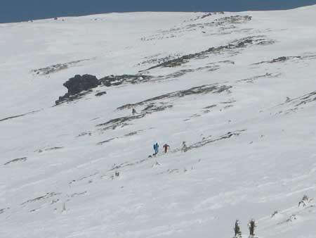前方に登山者発見