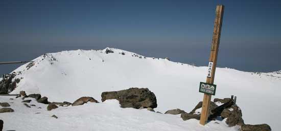 御嶽山の頂上