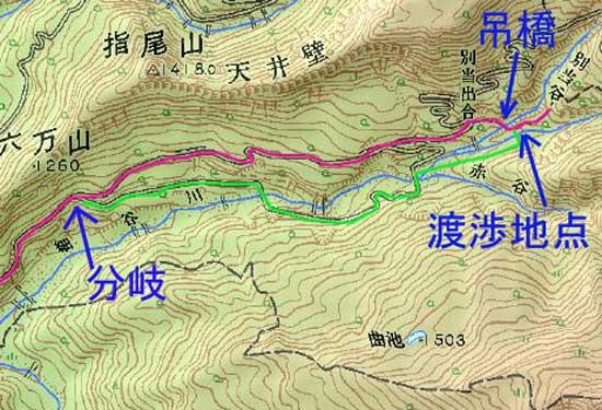 分岐からの地図