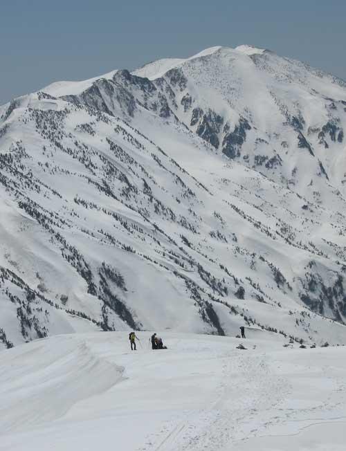 別山と登山者