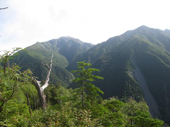 間ノ岳と農鳥岳