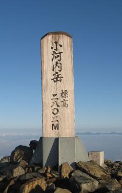 小河内岳山頂