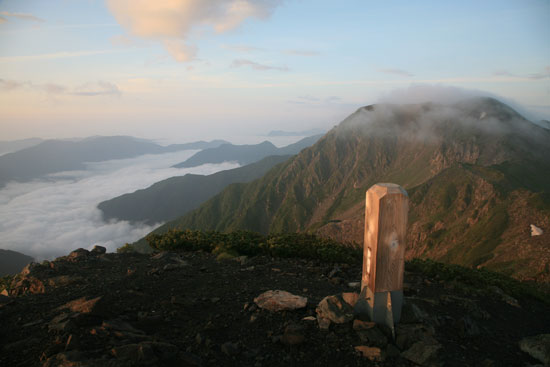 赤石岳とその他の山