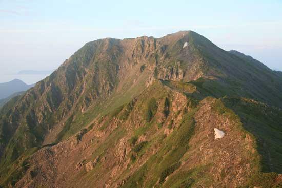 赤石岳ズームアップ