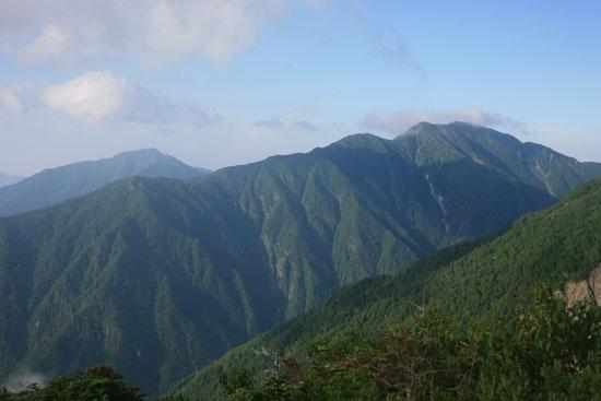 上河内岳と聖岳