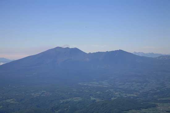浅間山にズーム