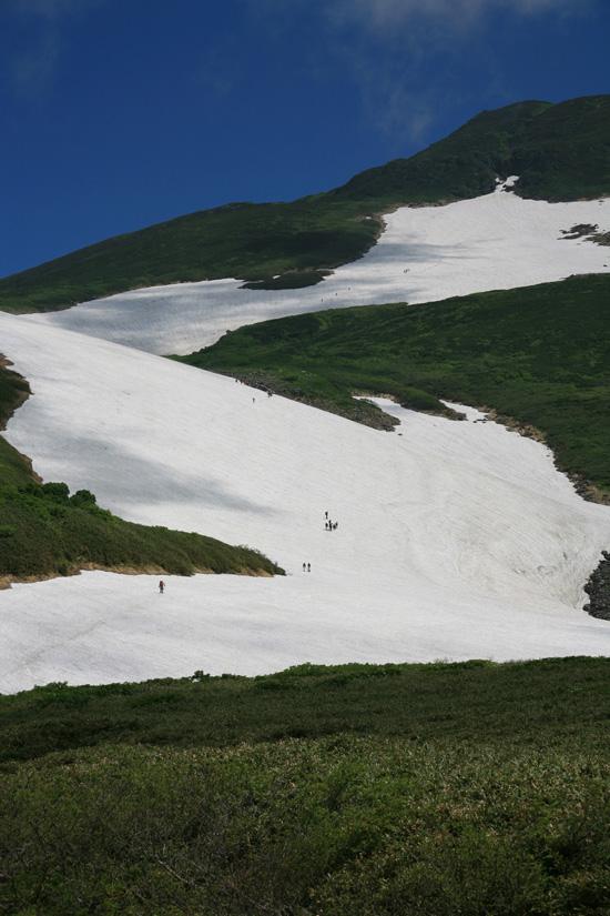 雪渓アップ