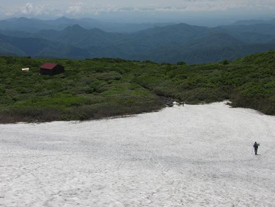最後の雪渓