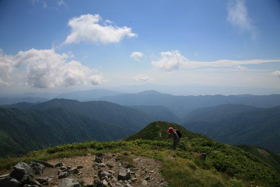 朝日鉱泉からの登山者