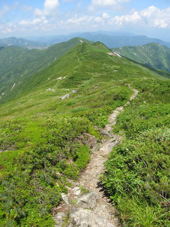 竜門山への道