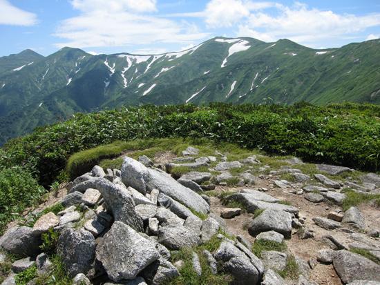 ユーフン山の頂上