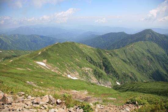 小朝日岳方面