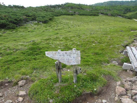 イザルヶ岳への分岐