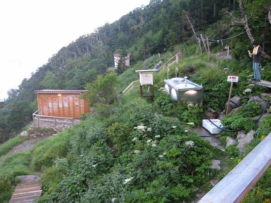 小屋の水場