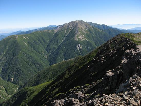 赤石岳を見ながら