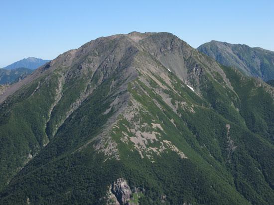 赤石岳ドアップ