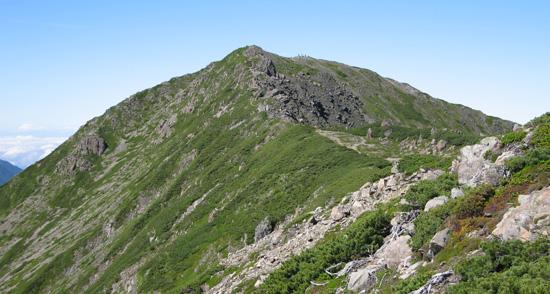 奥聖側からの聖岳
