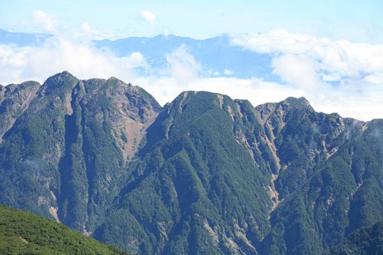 鋸岳と八ヶ岳
