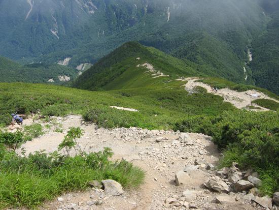 下山する道