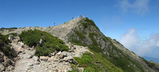 仙丈ケ岳の頂上