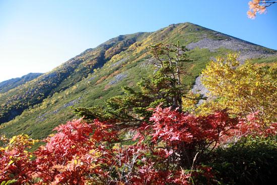 紅葉と常念岳
