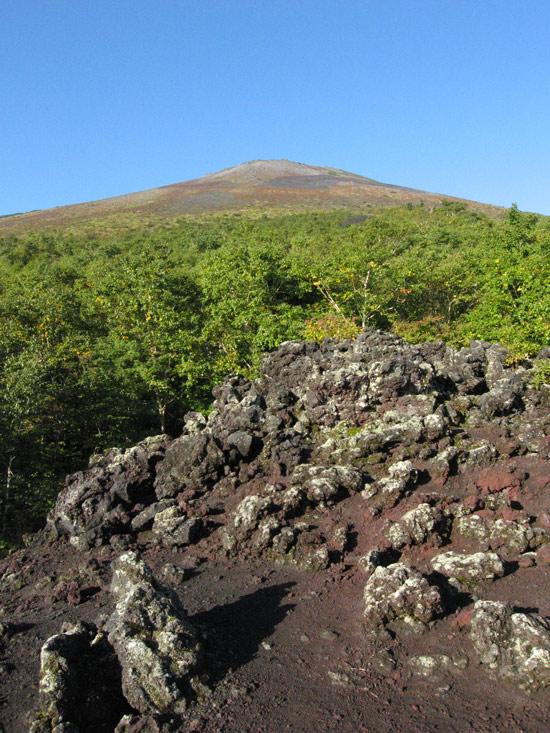 噴出口跡から見た岩手山