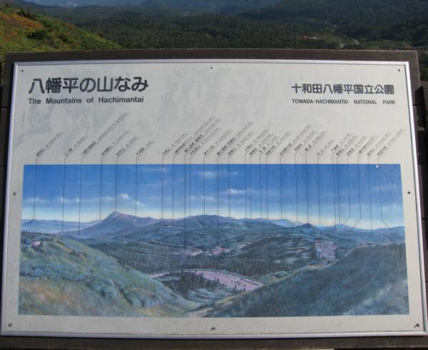 山の案内図