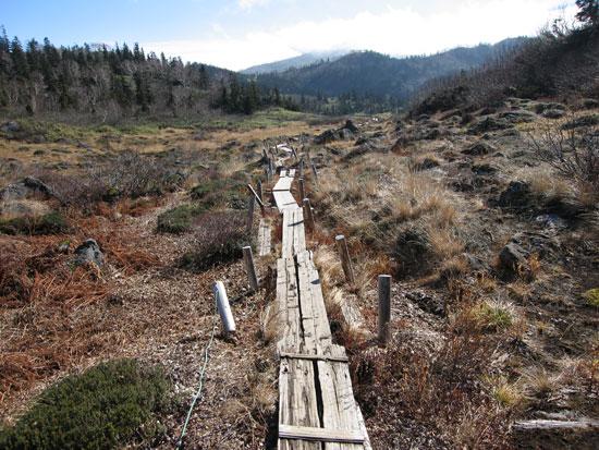 さらに乾いた乾いた木道を歩き
