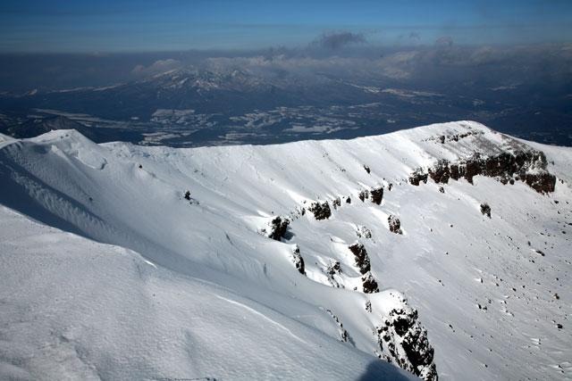 山頂からの稜線