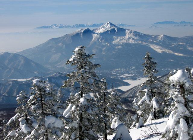 磐梯山のアップ