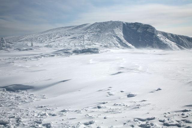 雪の熊野岳
