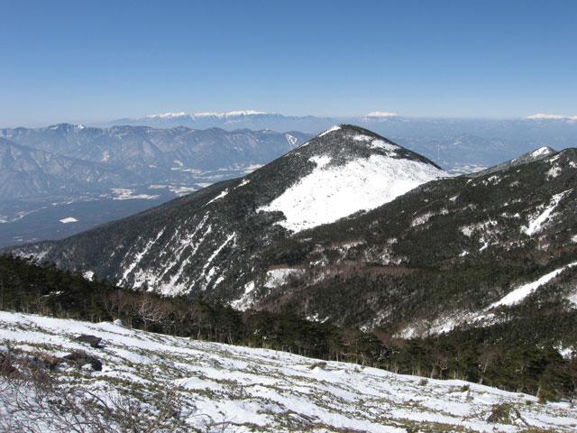網笠山を見ながら
