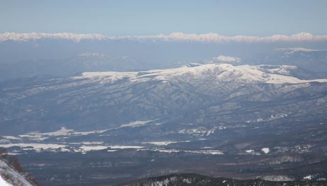 車山と北アルプス