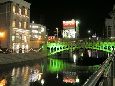 納屋橋と旧加藤商会ビル