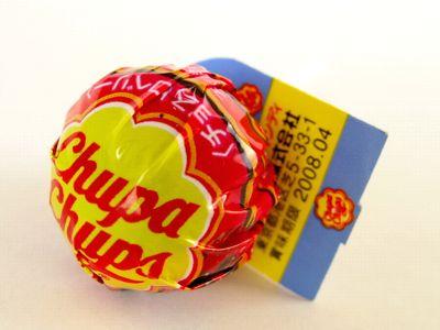 チュッパチャップス--チョコストロベリー。