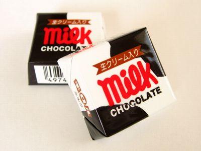 チロルチョコ--ミルク。