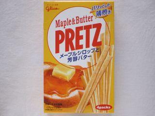 glico--PRETZ メープルシロップと芳醇バター。
